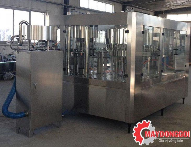 Dây chuyền chiết rót đóng nắp chai sữa 3 trong 1 GFP-8-8-3